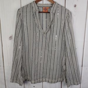 Tory Burch The Stephanie Embellished Tunic Sz 10